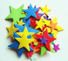 shop sponge paper foam stickers handmade five pointed