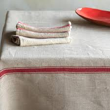 decorating linen tablecloth in with stripe for table