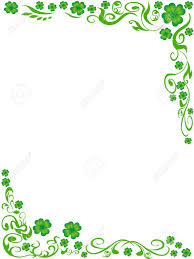 the background of four leaved clover frame with copy space in