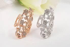 big rings designs images Super deals fashion design 18k rose gold flower rings for women jpg