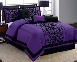 Cheap Purple Bedding Sets 8 Luxury Black And Purple Comforter Set Donna