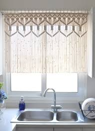 Crystal Beaded Curtains Australia by Macrame Curtain Kitchen Short Macrame Wall Hanging Macrame Custom