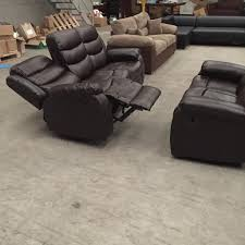 Recliner Sofa Suite Brand New Brown 3 2 Leather Recliner Sofa Suite In Bury