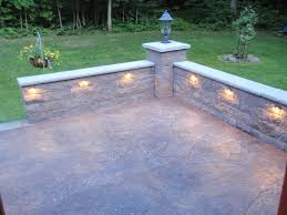 Building A Raised Patio With Retaining Wall by Stone Knee Wall For Patio Retaining Wall Image 2 Projects To
