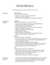 Hobbies And Interests On A Resume Resume U2013 Nmb