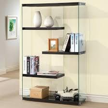 bookcase black bookshelves glass doors black glass bookshelf