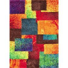 Checkerboard Area Rug Vivid Shag Area Rug In Patchwork Color Shag Area Rug Pinterest