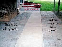 Concrete Patio With Pavers It S Fall On The Patio Concrete Patios Concrete And Patios