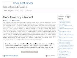 23 mack maxitorque manual