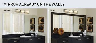 How To Frame A Large Bathroom Mirror by Mirrored Picture Frames For Wall Frame Decorations