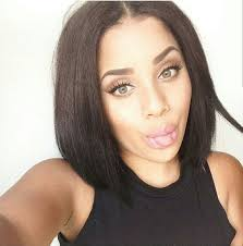 bob haircuts with center part bangs best 25 middle part bob ideas on pinterest bob with middle part