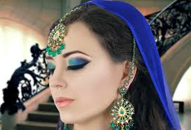 green and blue smokey eye makeup tutorial asian indian bridal
