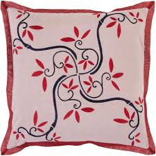 home design down pillow artistic weavers flowersb 18 in x 18 in decorative down pillow