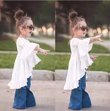 2016 new spring toddler baby girls dress cotton horn sleeve casual
