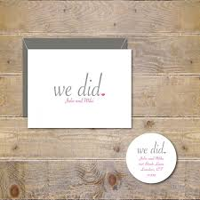 bridal shower thank you cards wedding thank you cards we did just married rustic wedding