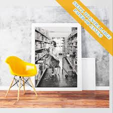 Audrey Hepburn Rug Audrey Hepburn Shopping With Her Pet Deer Classic Art Print