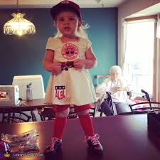 Toddler Baseball Halloween Costume Rockford Peach Baseball Player Costume Photo 2 3