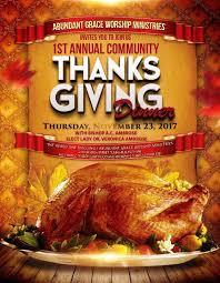 1st annual community thanksgiving dinner at abundant grace worship
