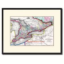 Home Decor Canada by Ontario Canada Vintage Antique Map Wall Art Bedroom Home Decor