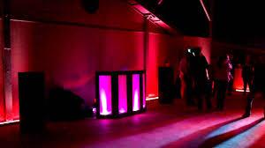 uplighting examples 4 quinceanera backyard party youtube
