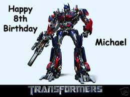optimus prime cake topper transformers optimus prime a4 10 x 7 5 caketopper 4 99