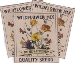 wildflower seed packets wildflower milkweed seeds