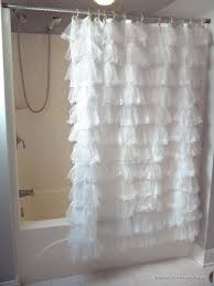 Ruffled Shower Curtains Shabby Crushed Voile Ruffled Shower Curtain Eleanor Brown Boutique