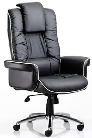 Leather Office Chair Lombardy Executive Black Leather Office Chair Deeply Padded