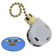 ceiling fan pull chain switch 4 wire hqrp ceiling fan pull chain 3 speed 4 wire control switch for hunter