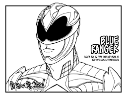 blue ranger power rangers 2017 movie u2013 draw it too