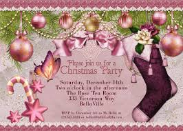 christmas party invitation victorian christmas card ladies