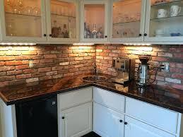 Tiled Kitchen Backsplash Brick Tile Kitchen Backsplash Kitchen Rustic Brick Kitchen