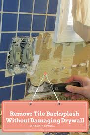 How To Install A Tile Backsplash In Kitchen Tile Removal 101 Remove The Tile Backsplash Without Damaging The
