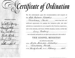 certificate of ordination template template update234 com