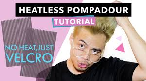 heatless pompadour hairstyle tutorial for men j daily youtube