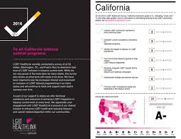 state tobacco report cards lgbt healthlink a program of