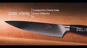 Pro Kitchen Knives Unboxing Zelite Infinity Comfort Pro 200mm Chef Youtube