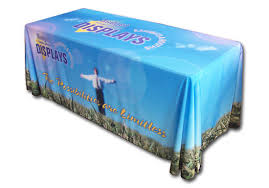 6ft Imprinted Table Cover Custom Table Cover Styles Custom Tablecloth Options