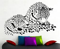 jaguar wall decal wild animal vinyl sticker art kids room zoom