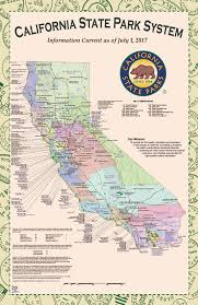 State Map Of California by California State Park System Map