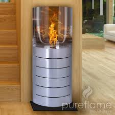 linear ethanol fireplace modern rooms colorful design lovely and