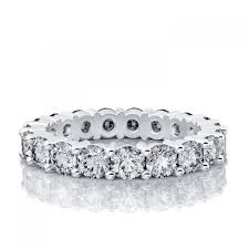 gold diamond wedding band ct eternity diamond wedding band in 14k white gold si h i