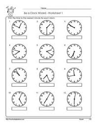 13 best images of telling time nearest minute worksheet telling