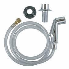 how to install a kitchen sink sprayer kitchen sink spray hose head in chrome danco