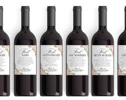 wine wedding gift milestones wine labels wedding gift anniversary bridal