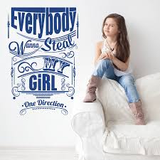 everybody want to steal my girl wall sticker by wall art everybody want to steal my girl wall sticker