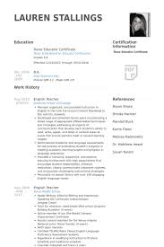 Sample Resume For Esl Teacher by English Teacher Resume Samples Visualcv Resume Samples Database