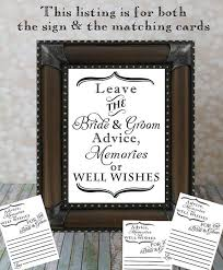 Advice Cards For Bride Leave The Bride U0026 Groom Advice Memories Or Well Wishes And Advice