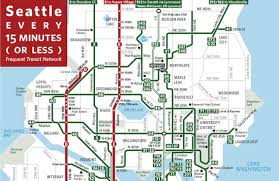 seattle map greenwood frequent transit map updated