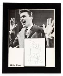billy fury autograph a clear biro signature of the late billy